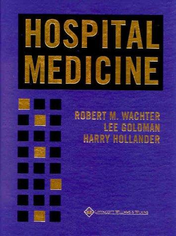 Hospital Medicine   2000 9780683304824 Front Cover