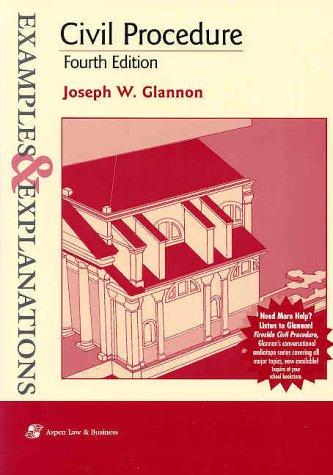 Civil Procedure  4th 2001 (Student Manual, Study Guide, etc.) edition cover