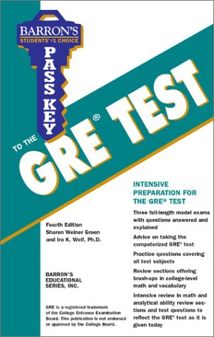 Pass Key to the GRE Test  4th 2003 9780764117824 Front Cover