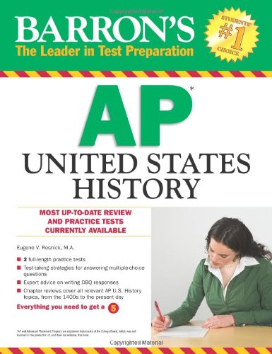 Barron's AP United States History  2nd 2012 edition cover