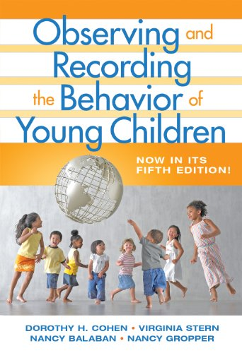 Observing and Recording the Behavior of Young Children  5th 2008 (Revised) edition cover