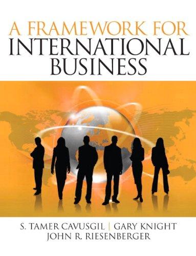 Framework of International Business   2013 edition cover