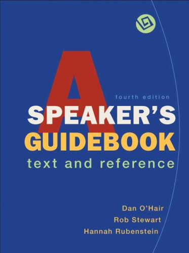 Speaker's Guidebook  4th 2008 edition cover