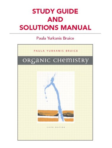 Study Guide and Solutions Manual for Organic Chemistry  6th 2011 edition cover