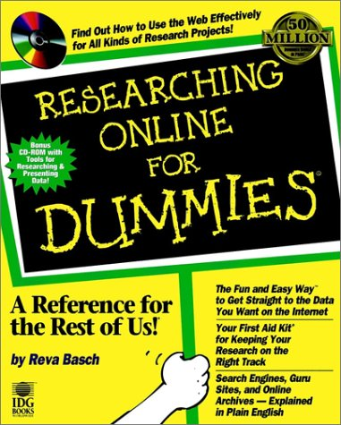 Researching Online for Dummies   1998 9780764503825 Front Cover