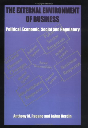 External Environment of Business : Political, Economic, Social and Regulatory 2nd 1997 edition cover