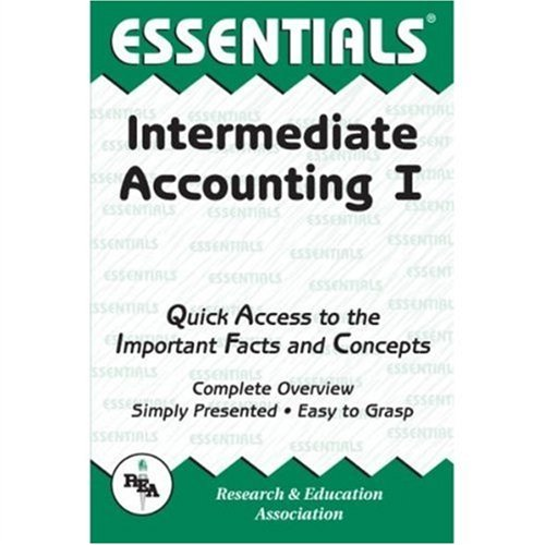 Intermediate Accounting I Essentials   1999 (Revised) edition cover