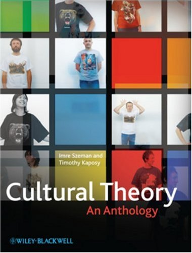 Cultural Theory An Anthology  2010 edition cover