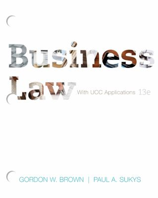 Loose-Leaf for Brown Business Law  13th 2013 edition cover