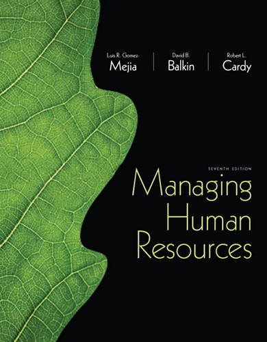 Managing Human Resources  7th 2013 (Revised) edition cover