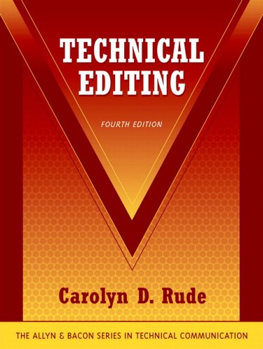 Technical Editing  4th 2006 (Revised) edition cover
