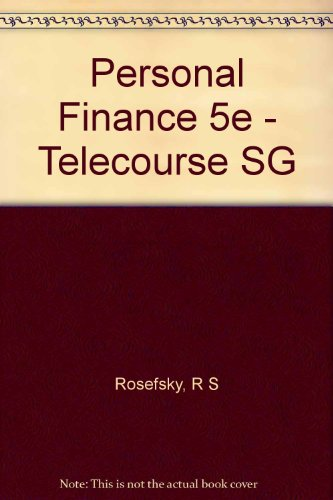 Telecourse Study Guide to Accompany Personal Finance  5th 9780471549826 Front Cover