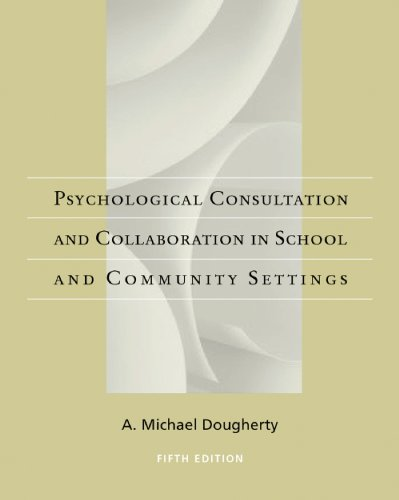 Casebook of Psychological Consultation and Collaboration in School and Community Settings  5th 2009 edition cover