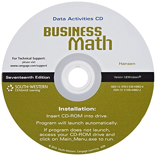 Business Math  17th 2010 (Revised) 9780538448826 Front Cover