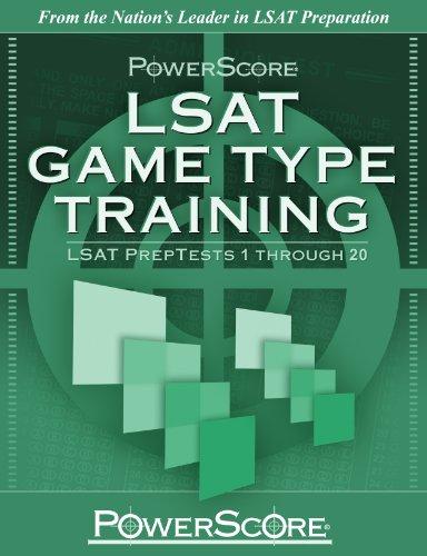 PowerScore LSAT Game Type Training : LSAT PrepTests 1 Through 20 N/A edition cover