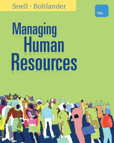 Managing Human Resources  16th 2013 9781111532826 Front Cover