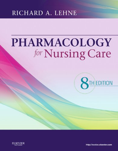Pharmacology for Nursing Care  8th 2013 9781437735826 Front Cover