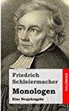 Monologen Eine Neujahrsgabe N/A 9781484070826 Front Cover