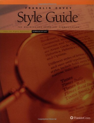 Franklin Covey Style Guide : Includes Free CD 3rd 2000 edition cover
