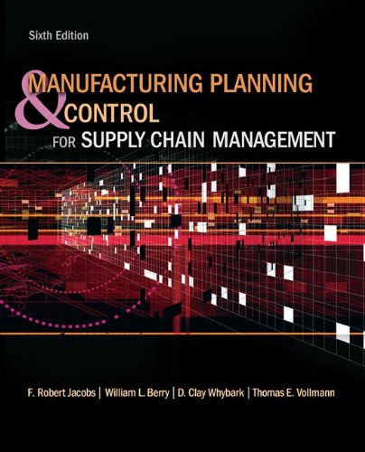 Manufacturing Planning and Control for Supply Chain Management  6th 2011 edition cover