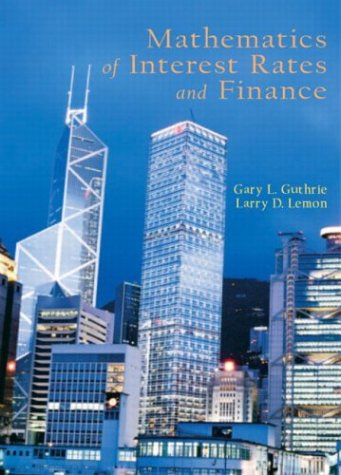 Mathematics of Interest Rates and Finance   2004 edition cover