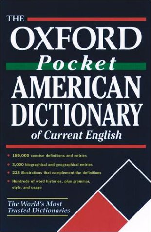 Oxford Pocket American Dictionary of Current English   2002 edition cover