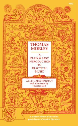 Plain and Easy Introduction to Practical Music  Reprint edition cover