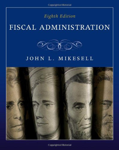 Fiscal Administration  8th 2011 edition cover