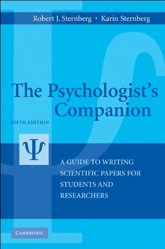 Psychologist's Companion A Guide to Writing Scientific Papers for Students and Researchers 5th 2010 (Revised) edition cover