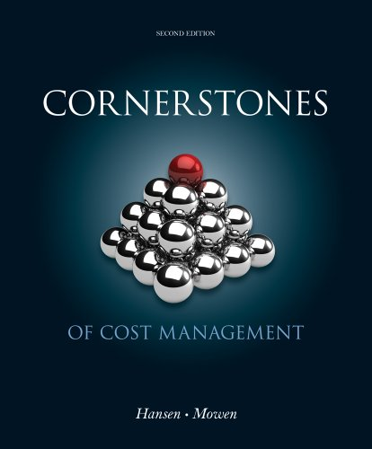 Cornerstones of Cost Management  2nd 2013 edition cover