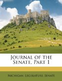 Journal of the Senate, Part  N/A edition cover