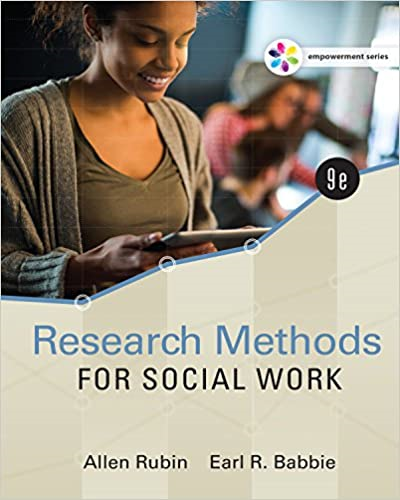 Research Methods for Social Work:   2016 edition cover