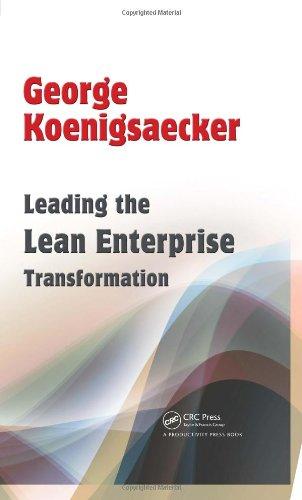 Leading the Lean Enterprise Transformation   2009 edition cover