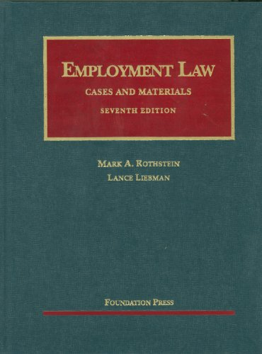 Employment Law  7th 2011 (Revised) edition cover