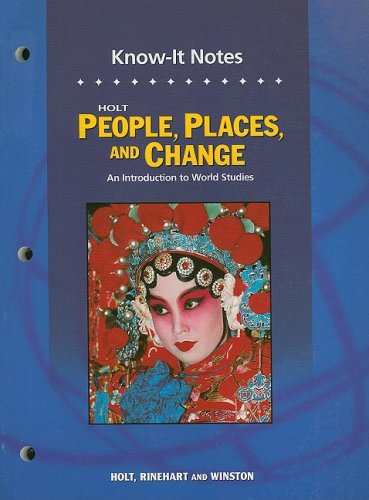 People, Places and Change Know-It Notes 5th 9780030391828 Front Cover