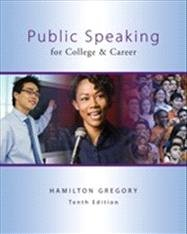 Public Speaking for College and Career  10th 2013 edition cover