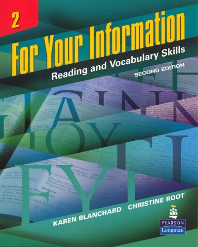 For Your Information 2 Reading and Vocabulary Skills 2nd 2007 edition cover
