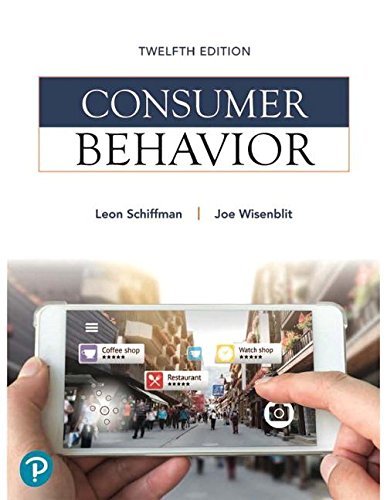 Consumer Behavior  12th 2019 9780134734828 Front Cover