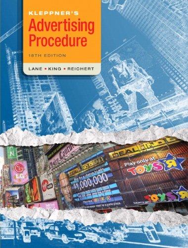 Kleppner's Advertising Procedure  18th 2011 edition cover
