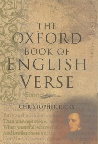 Oxford Book of English Verse   1999 edition cover