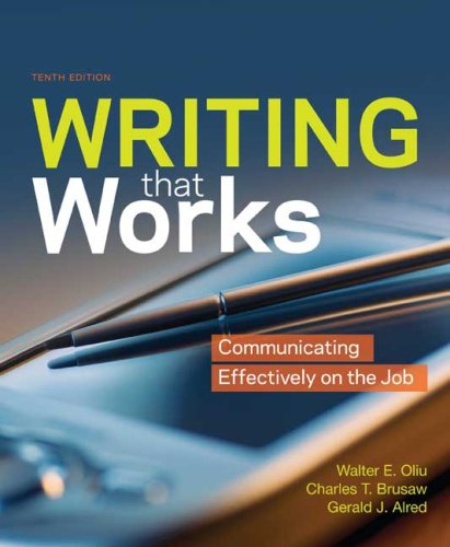 Writing That Works Communicating Effectively on the Job 10th edition cover