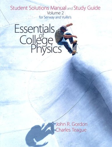 Essentials of College Physics   2007 edition cover