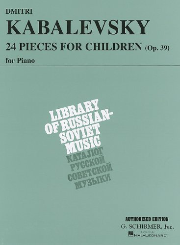 Twenty-Four Pieces for Children Opus 39 Piano N/A edition cover
