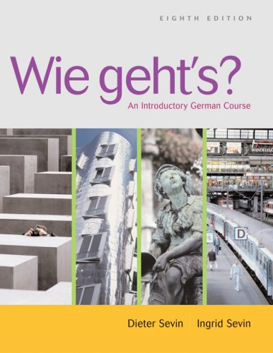 Wie Geht's? An Introductory German Course 8th 2007 (Revised) edition cover