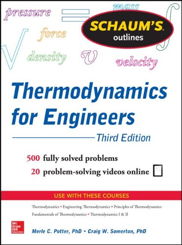 Thermodynamics for Engineers 500 Fully Solved Problems - 20 Problem-Soving Videos Online 3rd 2014 edition cover