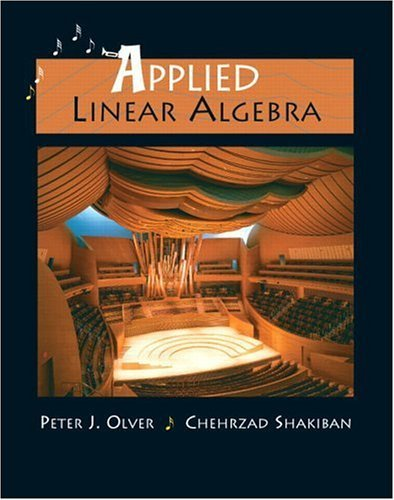 Applied Linear Algebra   2005 edition cover