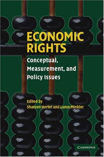 Economic Rights Conceptual, Measurement, and Policy Issues  2007 9780521690829 Front Cover