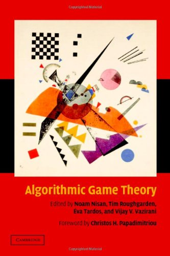 Algorithmic Game Theory   2007 edition cover