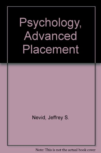 Psychology Advanced Placement Edition 2nd 2007 9780618749829 Front Cover