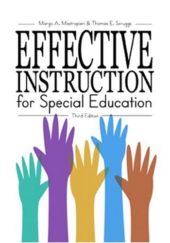 Effective Instruction for Special Education  3rd 2002 (Revised) 9780890798829 Front Cover